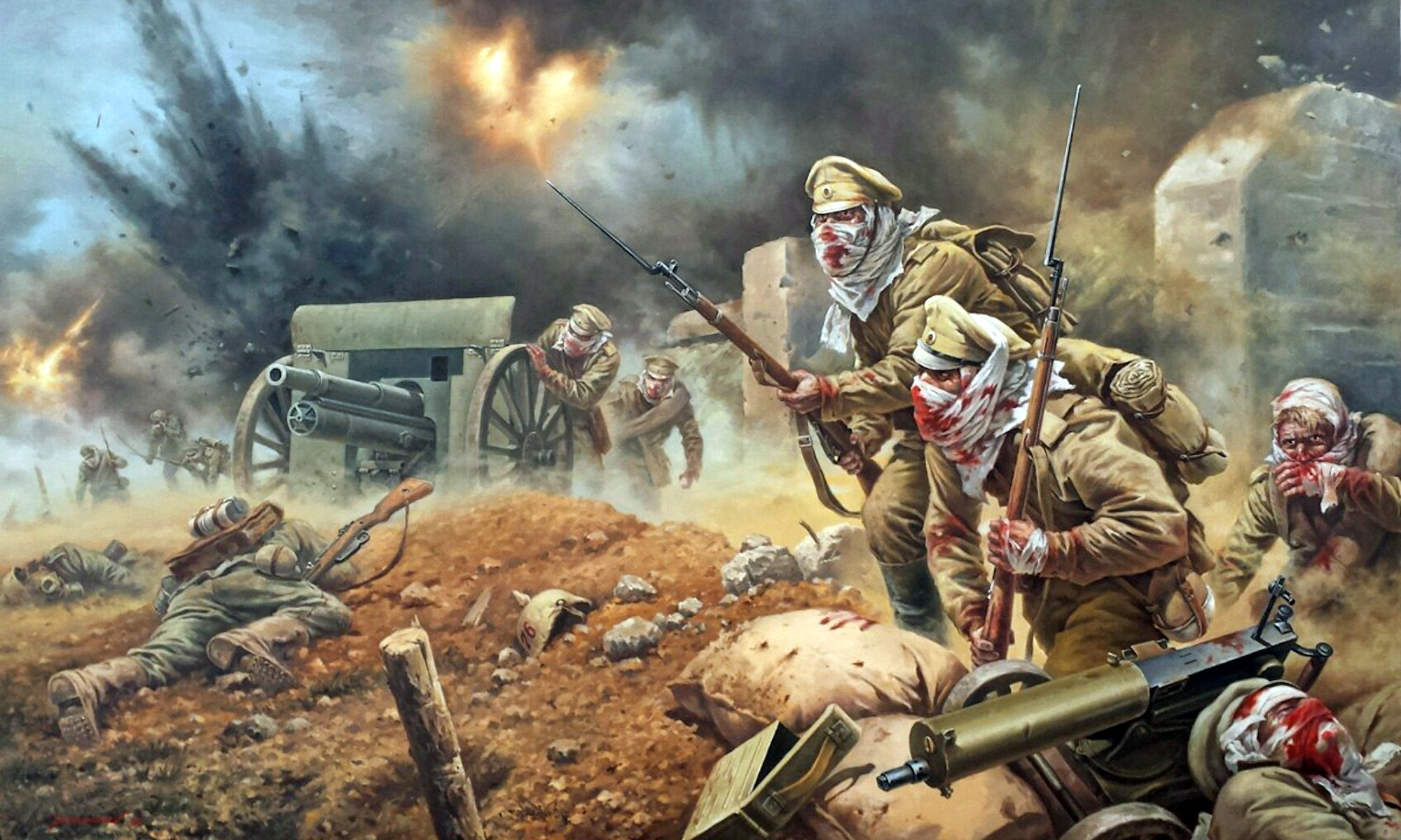 00 Yevgeni Ponomaryov. Dedicated to the Defenders of Osovets. The Attack of the Dead in 1915. 2015