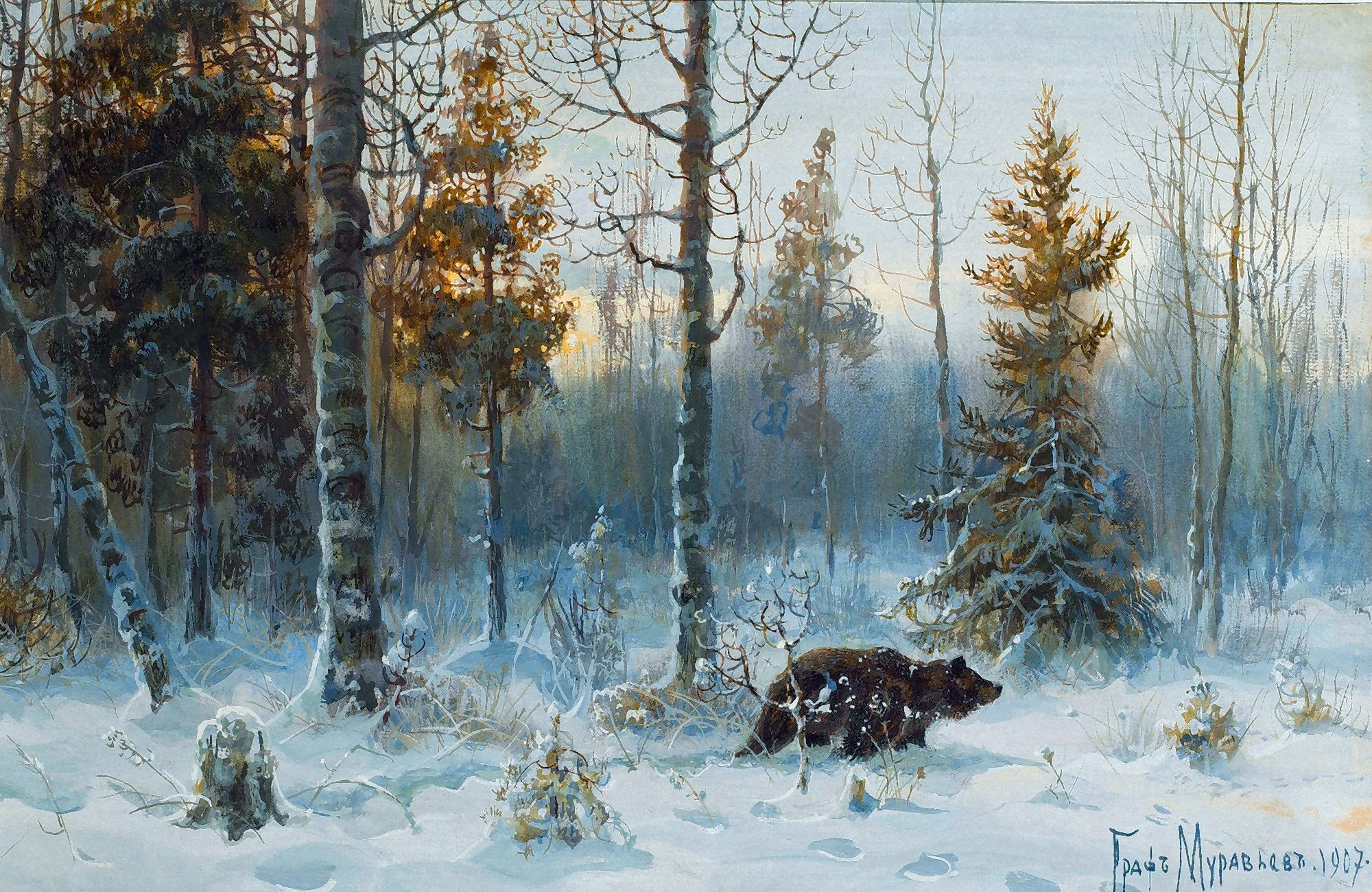 00 Graf Vladimir Muraviev. Searching for Prey. 1907