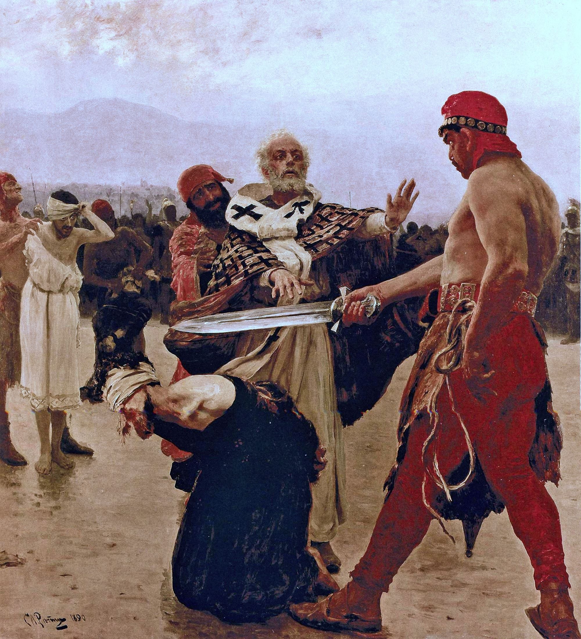 00 Ilya Repin. St Nicholas Halts the Execution. 1890.