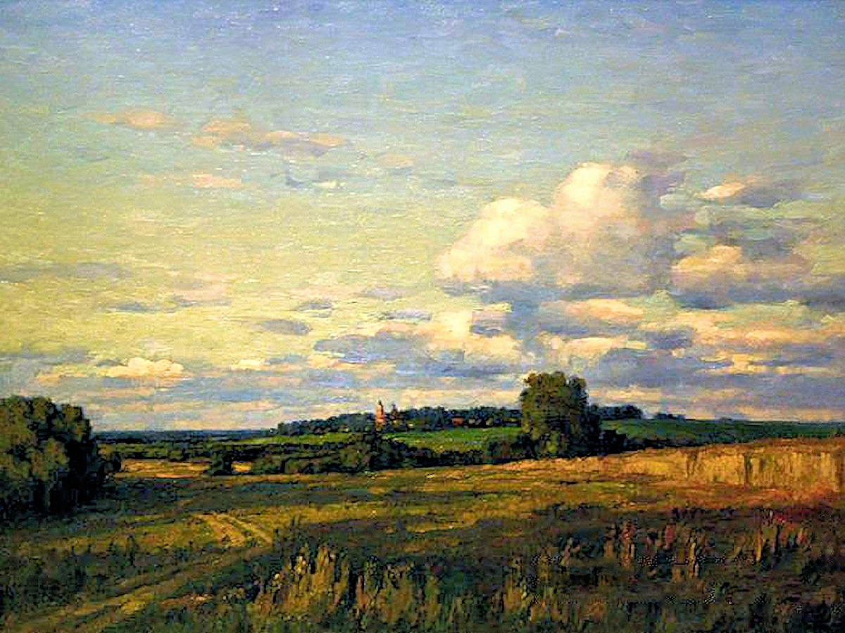 00 Nikolai Burdastov. Evening in the Outskirts. 2000
