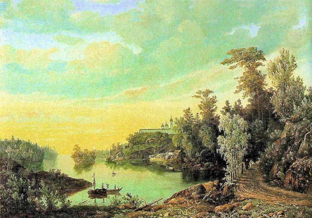 00 Ivan Davydov. A View of Valaam Island. 1853
