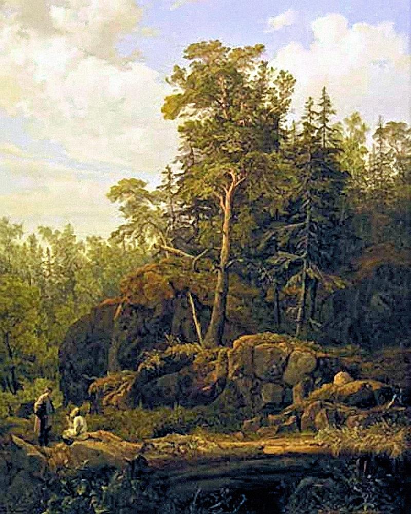 00 Ivan Davydov. On Valaam Island. 1853