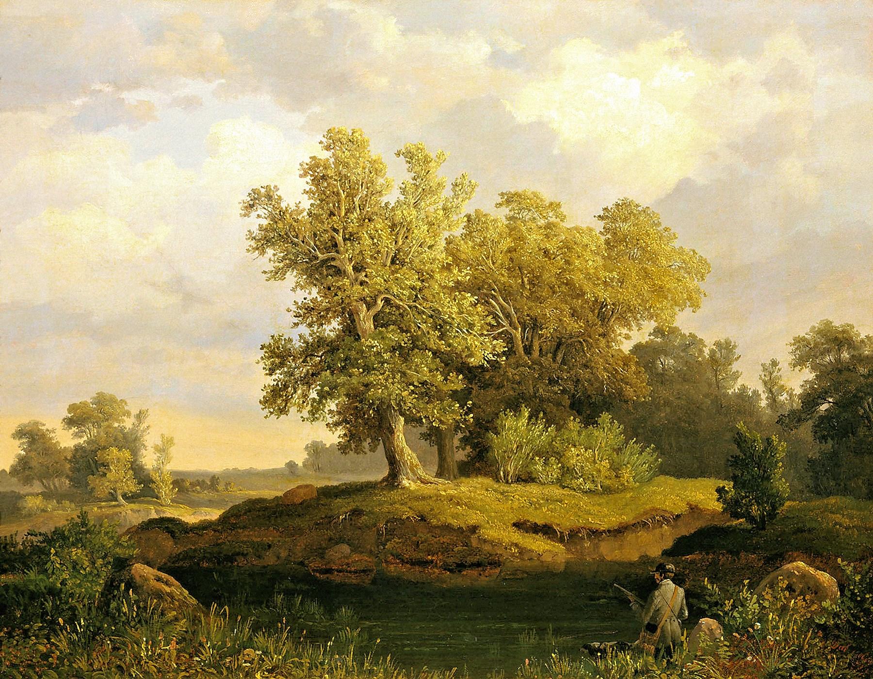 00 Ivan Daydov. A Landscape. 1850s
