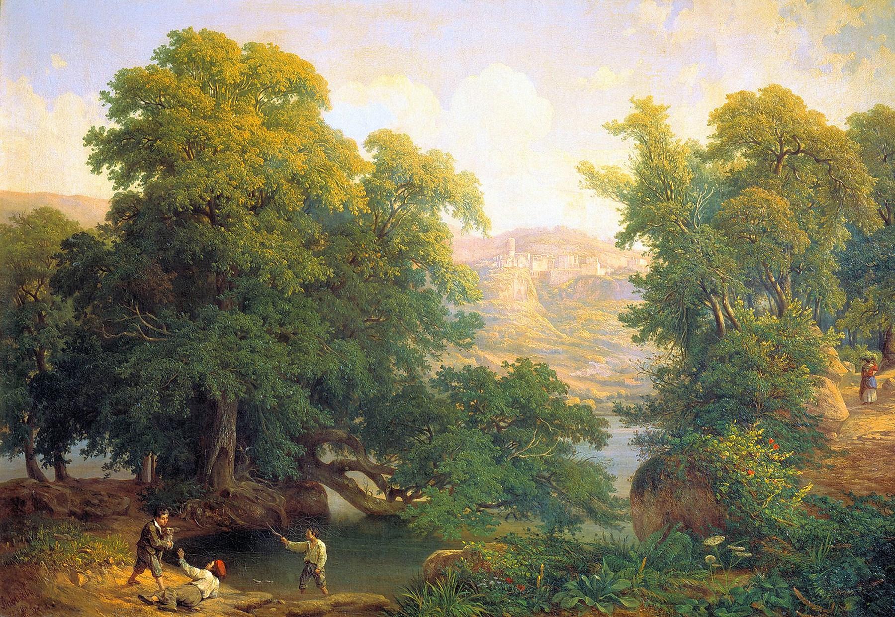 00 Ivan Daydov. In the Roman Suburbs. 1856
