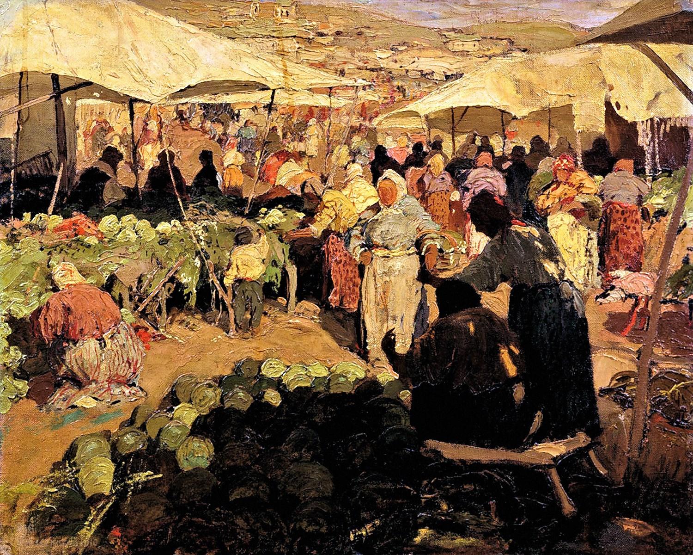 00 Ivan Kolesnikov. Bazaar. 1910