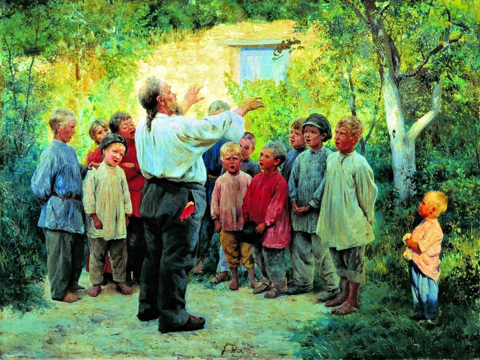 00 Nikolai Yaroshenko. The Chorus. 1894