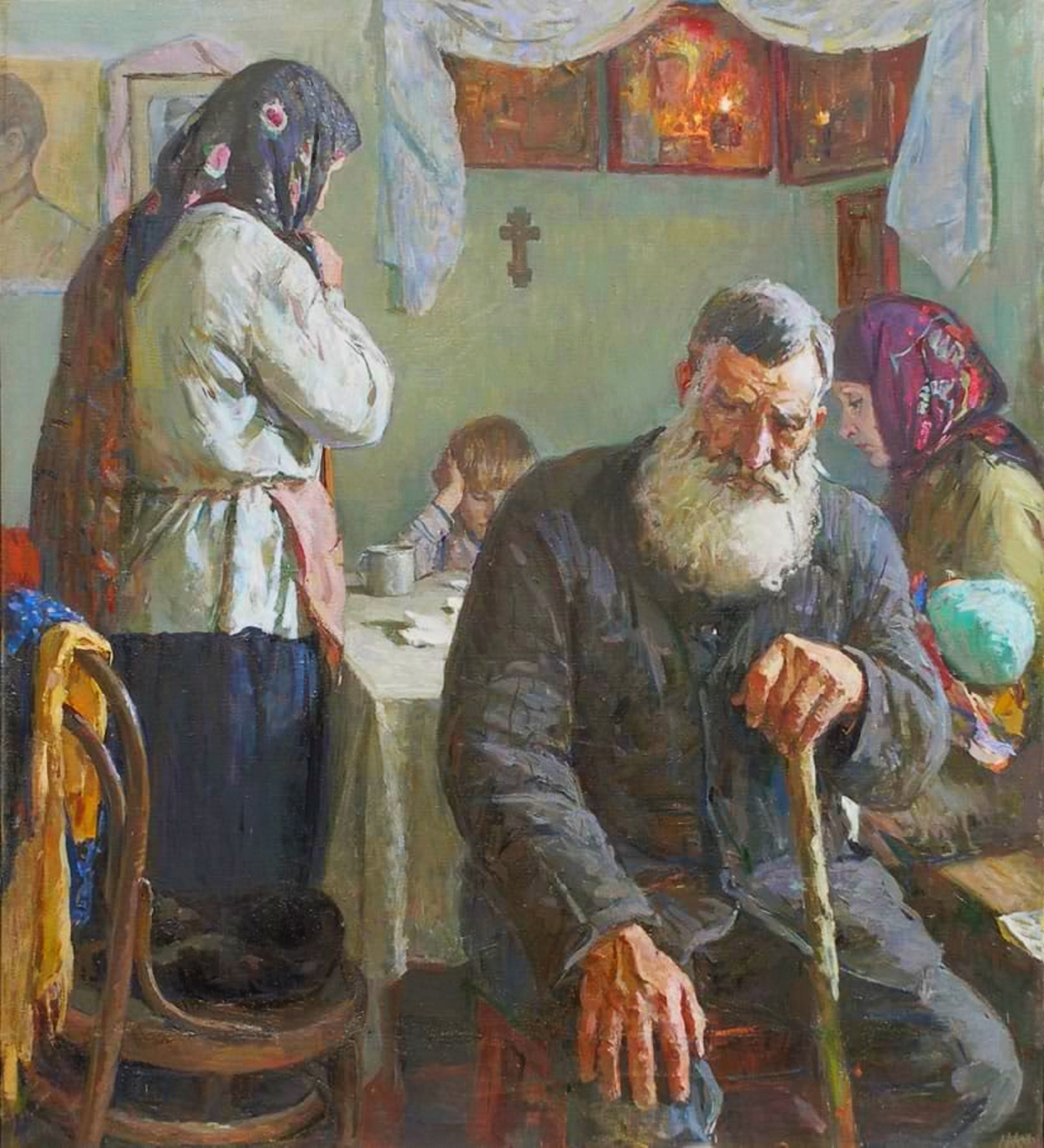 00-mikhail-shorokhov-in-the-war-years-the-notification-of-a-soldiers-death-1986